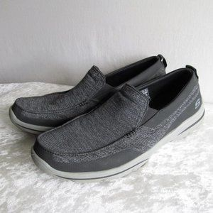 Sketchers mesh air cooled memory foam gray loafers